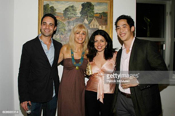 Charles Ward Nancy Pearson Sabrina Black and Lawrence Lee attend MARLENE STEINER Hosts An Evening Of REAL ESTATE ART at NYC on June 21 2007