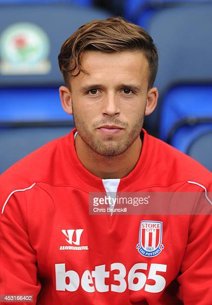 Charles Ward of Stoke City looks on during the pre season friendly match between Blackburn Rovers and Stoke City at Ewood Park on August 03 2014 in...