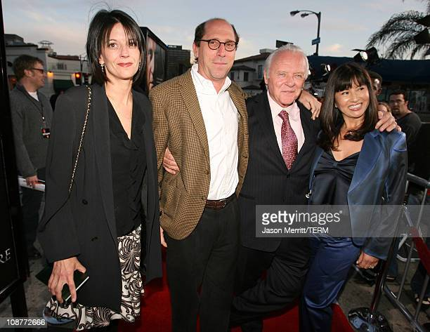 Charles Weinstock producer and guest Anthony Hopkins and wife Stella Arroyave
