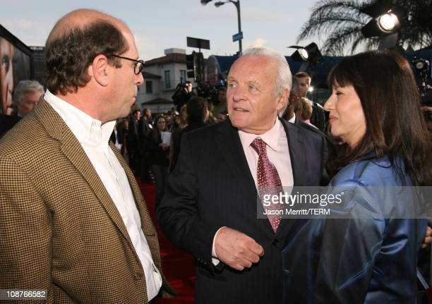 Charles Weinstock producer Anthony Hopkins and wife Stella Arroyave
