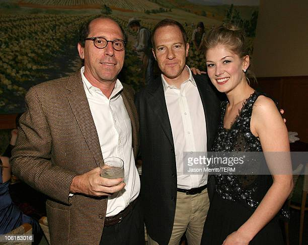 Charles Weinstock Toby Emmerich and Rosamund Pike