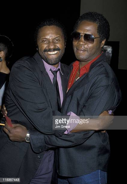 Charles Weldon and Georg Stanford Brown during Memorial for Adolph Caesar California United States
