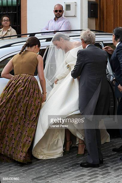 Charles Wellesley and Lady Charlotte Wellesley attend her wedding with Alejandro Santo Domingo at Illora on May 28, 2016 in Granada, Spain.