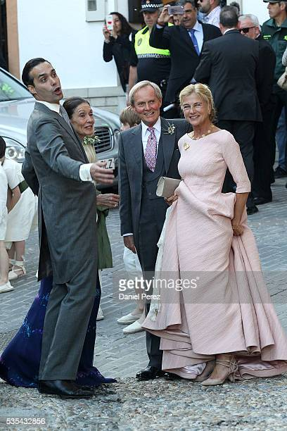 Charles Wellesley attends the wedding of Lady Charlotte Wellesley and Alejandro Santo Domingo at Illora on May 28, 2016 in Granada, Spain.