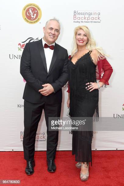 Charles Wesley and Ginger McNamara attend the Unbridled Eve Gala during the 144th Kentucky Derby at Galt House Hotel Suites on May 4 2018 in...