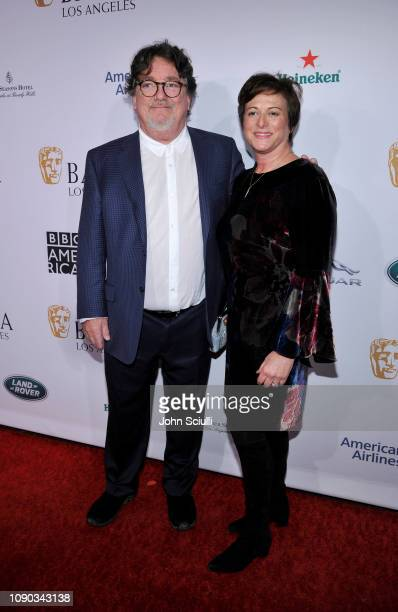 Charles Wessler and Liz Weller arrive to the BAFTA Tea Party at The Four Seasons Hotel Los Angeles at Beverly Hills on January 05 2019 in Beverly...