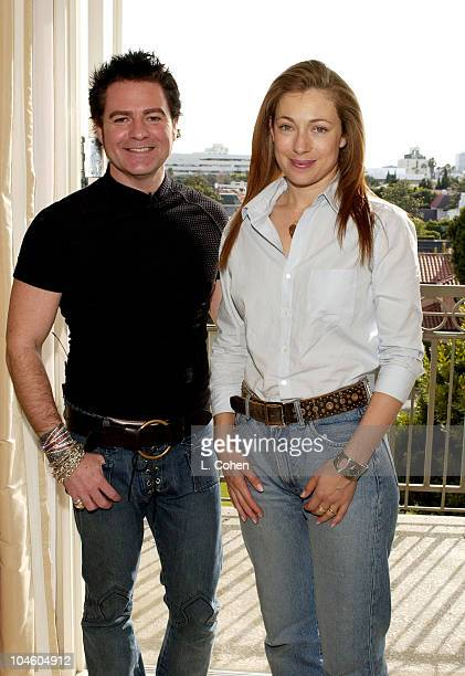 Charles Worthington and Alex Kingston at L'Ermitage Hotel in Beverly Hills