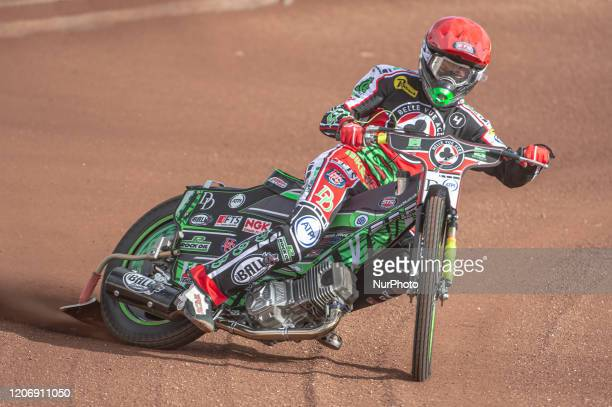 Charles Wright of Belle Vue Aces in action during The Belle Vue Speedway Media Day, at The National Speedway Stadium, Manchester, on Thursday 12...