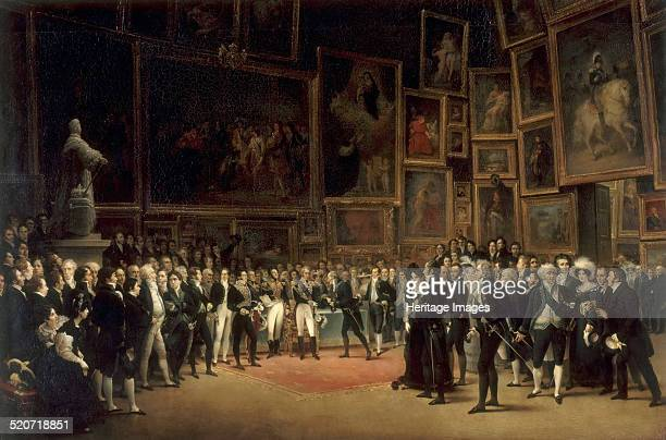 Charles X Distributing Awards to Artists Exhibiting at the Salon of 1824 at the Louvre Found in the collection of Louvre Paris