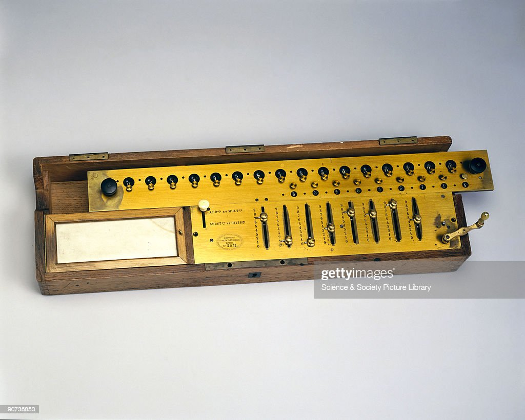 Thomas de Colmars Arithmometer, c 1890. : News Photo