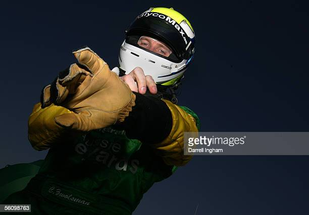Charles Zwolsman prepares to climb aboard the Aussie Vineyards Lola Ford Cosworth during practice for the ChampCar World Series Gran Premio...