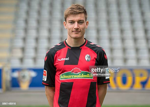 CharlesElie Laprevotte poses during the SC Freiburg Team Presentation on August 5 2016 in Freiburg im Breisgau Germany