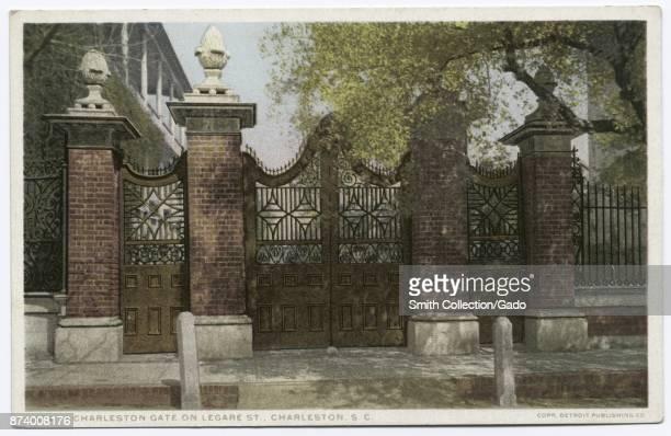 Charleston gate on Legate Street Charleston South Carolina USA 1914 From the New York Public Library