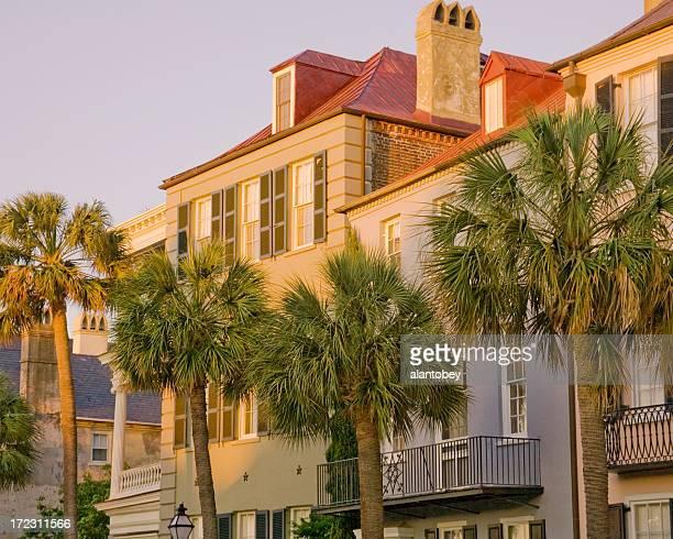 Charleston: Historic Houses on Bay Street at Dawn
