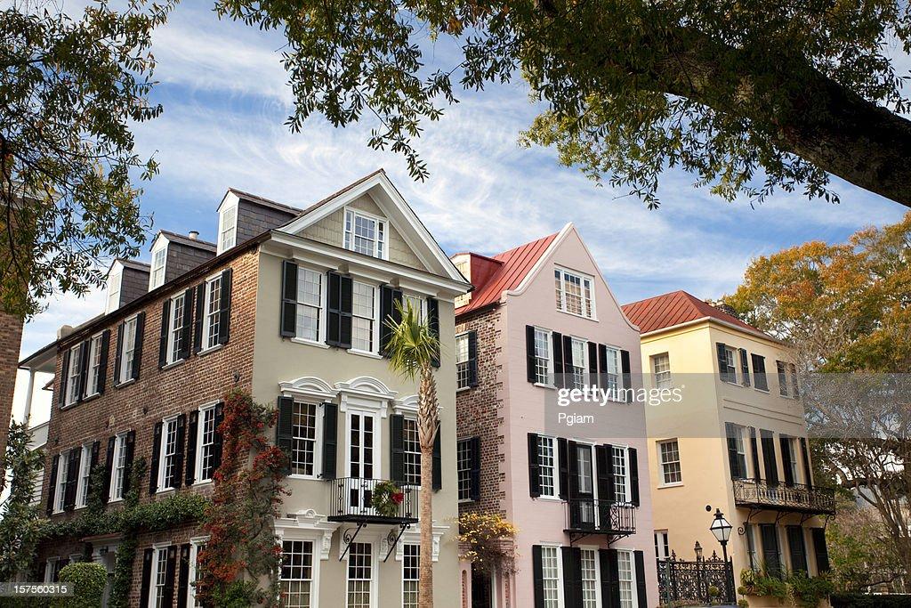 Charleston SC Rainbow Row : Stock Photo