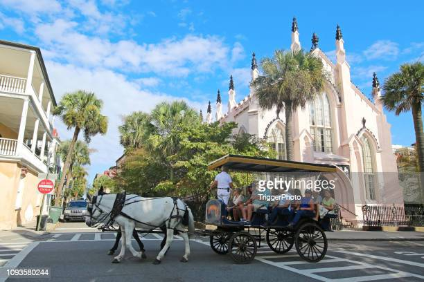 charleston south carolina horse drawn carriage ride - template_talk:south_carolina stock pictures, royalty-free photos & images