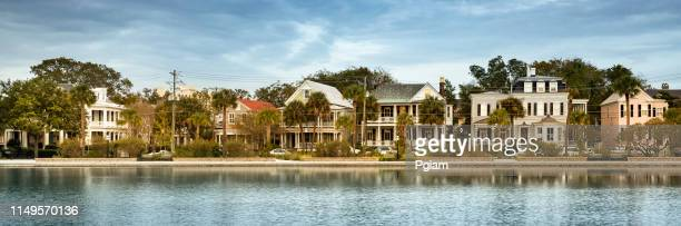 charleston south carolina panorama homes in the morning - template_talk:south_carolina stock pictures, royalty-free photos & images
