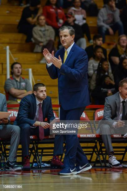 Charleston Southern Buccaneers head coach Barclay Radebaugh during a game between the Charleston Southern Buccaneers and the Radford University...