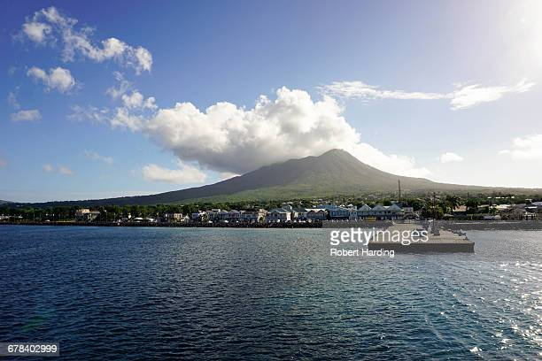 Charlestown with Mount Nevis in background, Nevis, St. Kitts and Nevis, Leeward Islands, West Indies, Caribbean, Central America