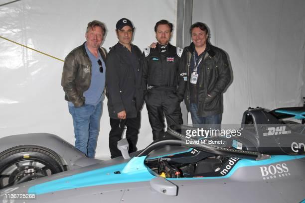 Charley Boorman David Alexanian Ewan McGregor and Russ Malkin attend the ABB FIA Formula E GEOX Rome EPrix 2019 on April 13 2019 in Rome Italy