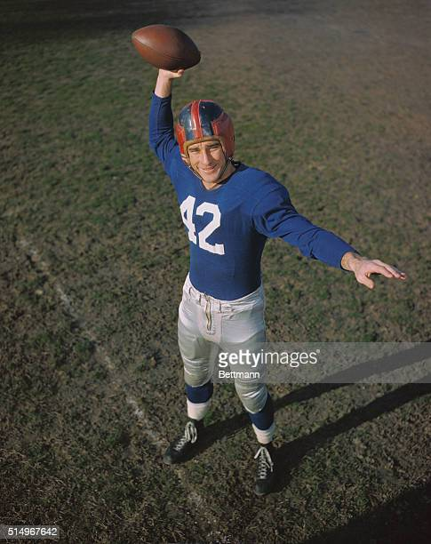 Charley Conerly, football player with the New York Giants.