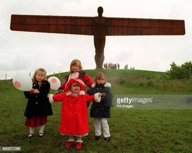Charley Donachy from Sunderland with Rachel Andrews from Hartlepool Rachel Charlton from Murton and Amy Loise Burton from Shiney Row in front of...