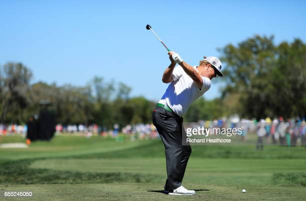 Charley Hoffman of the United States plays his shot from the second tee during the final round of the Arnold Palmer Invitational Presented By...