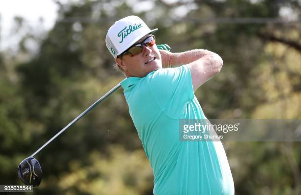 Charley Hoffman of the United States plays his shot from the second tee during the first round of the World Golf ChampionshipsDell Match Play at...