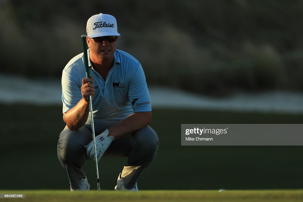 Charley Hoffman of the United States prepares to play a shot on the 17th hole during the third round of the Hero World Challenge at Albany, Bahamas on December 2, 2017 in Nassau, Bahamas.
