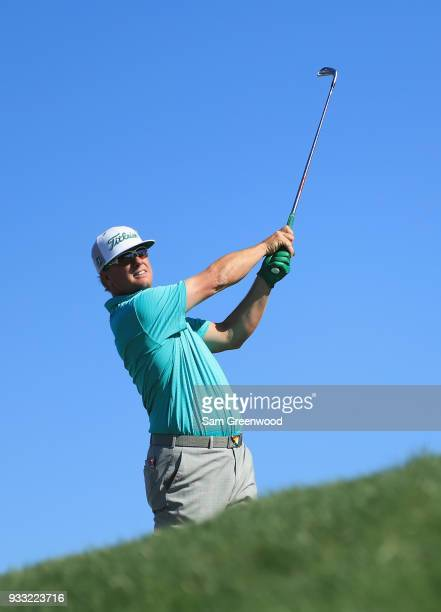Charley Hoffman plays his shot from the 14th tee during the third round at the Arnold Palmer Invitational Presented By MasterCard at Bay Hill Club...