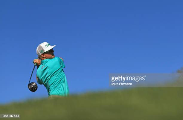 Charley Hoffman plays his shot from the 16th tee during the third round at the Arnold Palmer Invitational Presented By MasterCard at Bay Hill Club...