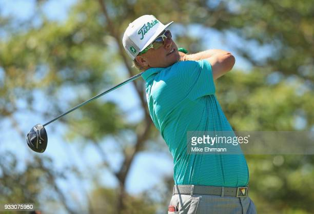 Charley Hoffman plays his shot from the third tee during the third round at the Arnold Palmer Invitational Presented By MasterCard at Bay Hill Club...