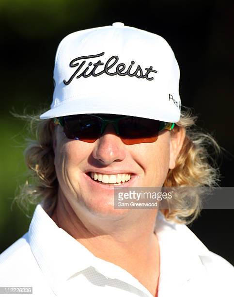 Charley Hoffman smiles during the first round of the Transitions Championship at Innisbrook Resort and Golf Club on March 17 2011 in Palm Harbor...