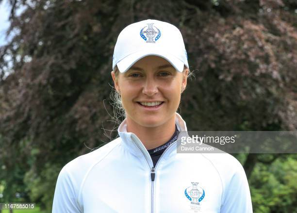 Charley Hull of England poses for a photograph during the European Solheim Cup Team announcement at Gleneagles on August 12 2019 in Auchterarder...
