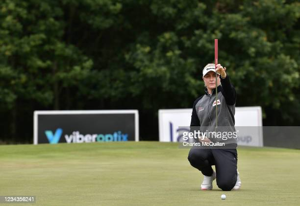 Charley Hull on the 16th during Day Three of The ISPS HANDA World Invitational at Galgorm Spa & Golf Resort on July 31, 2021 in Ballymena, United...