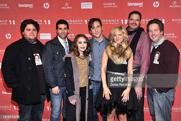 Charley Koontz Jared Ward Alexis Dziena Jack Plotnick Arden Myrin Mark Burnham and Steve Little attend the 'Wrong' premiere during the 2012 Sundance...