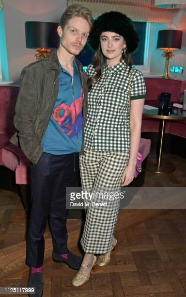 Charley Palmer Rothwell and Millie Brady attend the Mulberry Reflections party celebrating London Fashion Week February 2019 and Mulberry's SS19...