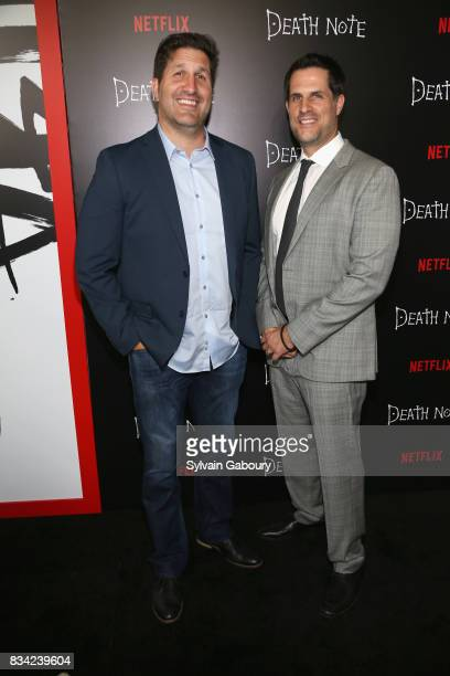 Charley Parlapanides and Vlas Parlapanides attend Death Note New York Premiere at AMC Loews Lincoln Square 13 theater on August 17 2017 in New York...