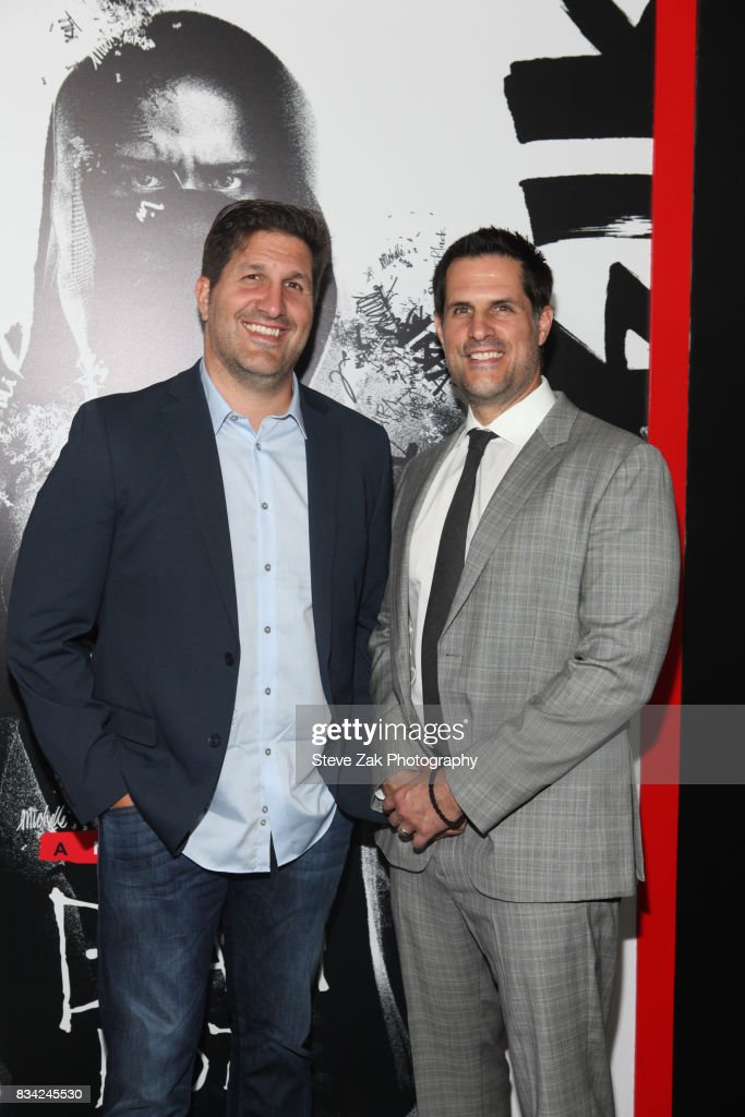 Charley Parlapanies and Vlas Parlapanides attend 'Death Note' New York premiere at AMC Loews Lincoln Square 13 theater on August 17, 2017 in New York City.