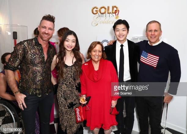 Charley Walters Maia Shibutani Dina Gerson Alex Shibutani and Scott Orlin attend The 6th Annual 'Gold Meets Golden' Brunch hosted by Nicole Kidman...