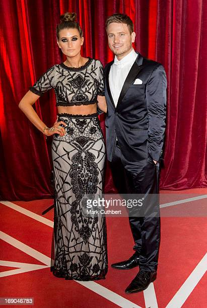 Charley Webb and Matthew Wolfenden attend the British Soap Awards at Media City on May 18 2013 in Manchester England