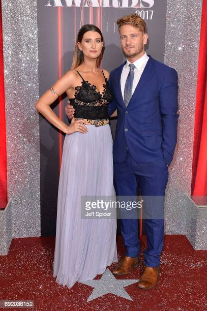 Charley Webb and Matthew Wolfenden attend The British Soap Awards at The Lowry Theatre on June 3 2017 in Manchester England The Soap Awards will be...