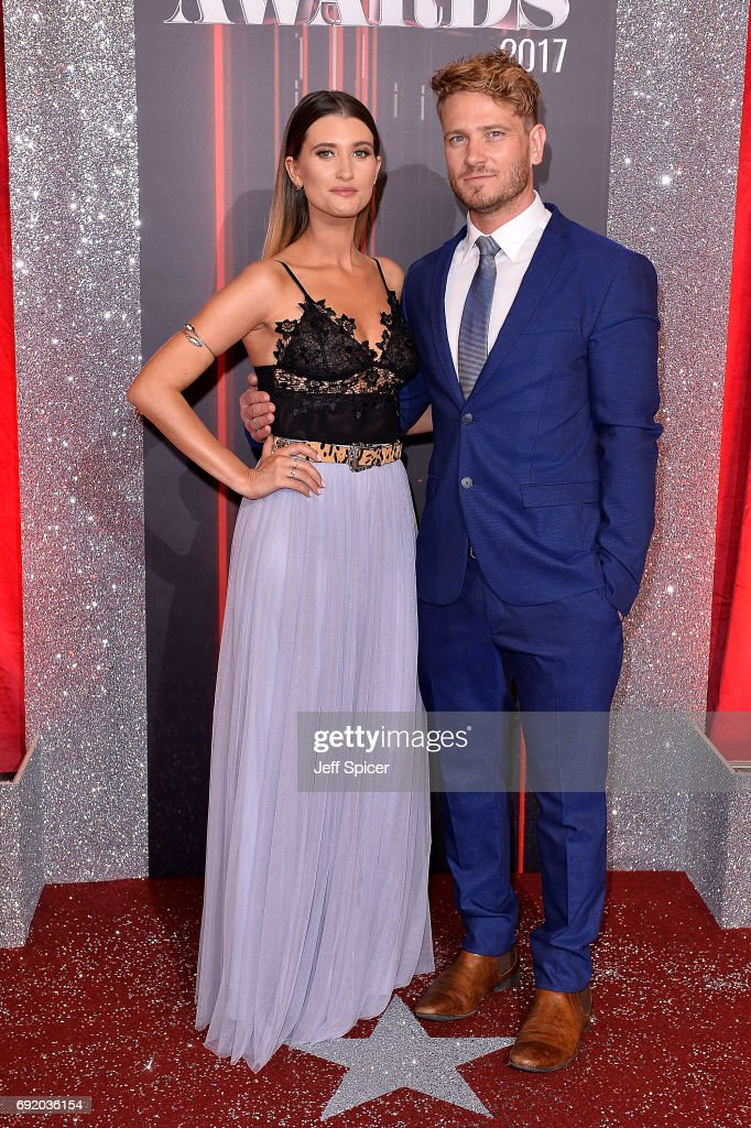 Charley Webb and Matthew Wolfenden attend The British Soap Awards at The Lowry Theatre on June 3, 2017 in Manchester, England. The Soap Awards will be aired on June 6 on ITV at 8pm.