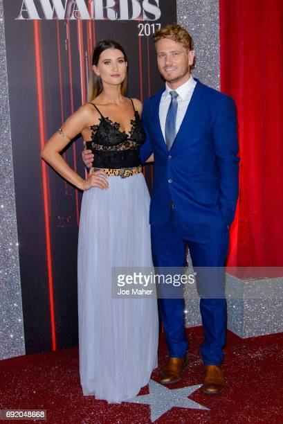 Charley Webb and Matthew Wolfenden attend the British Soap Awards at The Lowry Theatre on June 3 2017 in Manchester England
