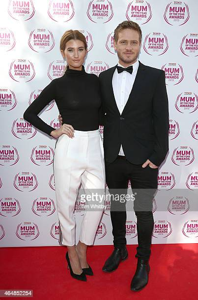 Charley Webb and Matthew Wolfenden attend the Tesco Mum of the Year Awards at The Savoy Hotel on March 1 2015 in London England