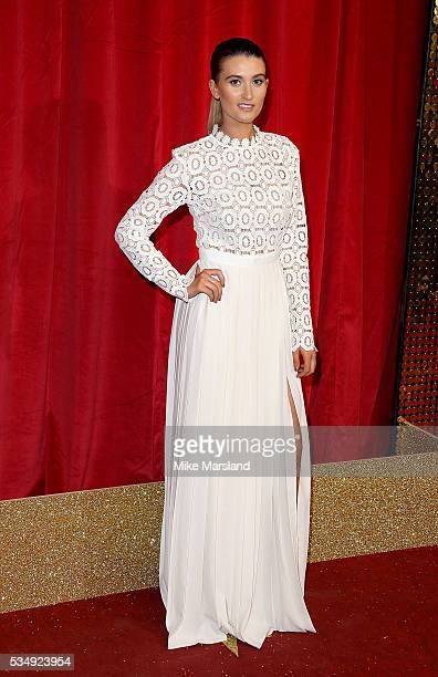 Charley Webb attends the British Soap Awards 2016 at Hackney Empire on May 28 2016 in London England