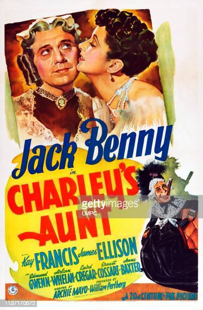 Charley's Aunt poster US poster art Jack Benny Kay Francis 1941