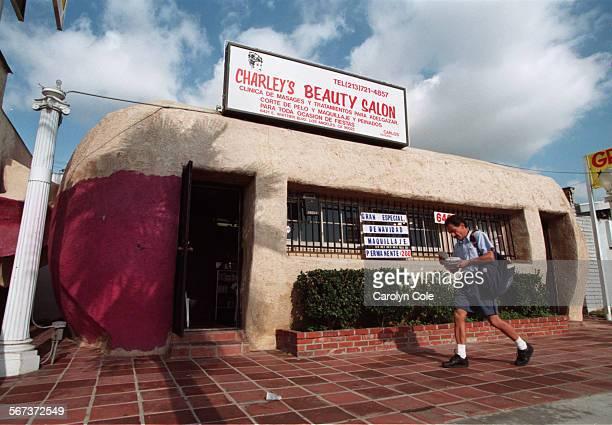 Charley's Beauty Salon in the 6700 block of Whittier Blvd in East LA is shaped like a tamale