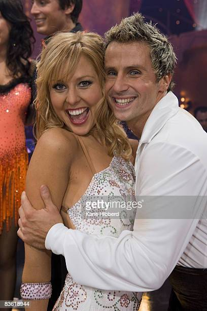 Charli Delaney and Craig Monley arrive for the grand final event for Dancing With The Stars 2008 at the Channel Seven studios on November 8 2008 in...