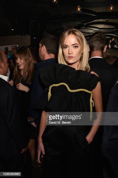 Charli Fisher attends the Edeline Lee X Glass Magazine party during London Fashion Week September 2018 at Kadie's Cocktail Bar Club on September 17...